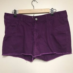 Old Navy the Diva Purple Size 12 Frayed Shorts